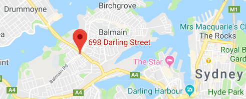 698 Darling St, Rozelle, map image